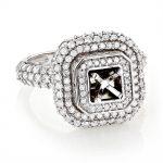 Halo 14K Gold Round Diamond Engagement Ring Setting 2.40ct