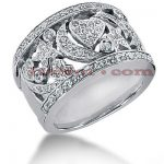 14K Gold Round Diamond Ladies Ring 0.83ct