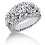 14K Gold Round Diamond Ladies Ring 0.89ct