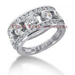 14K Gold Round Diamond Ladies Ring 1.72ct