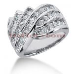 14K Gold Round Diamond Ladies Ring 2.22ct