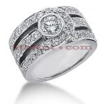 14K Gold Round Diamond Ladies Ring 2.28ct