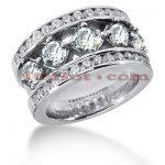 14K Gold Round Diamond Ladies Ring 2.65ct