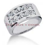 14K Gold Round Diamond Ladies Ring 2ct