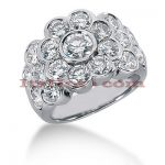 14K Gold Round Diamond Ladies Ring 3.56ct