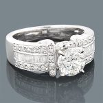 14K Gold Unique Diamond Engagement Ring Setting 0.67ct