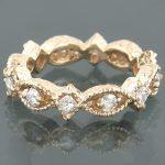 14K Gold Womens Designer Diamond Eternity Band 1.44ct