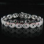 14k Gold Womens Diamond Bracelet 3.36 ct.