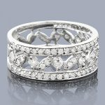 14K Ladies Round Diamond Ring 0.96ct