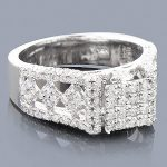 14K Pave Diamond Engagement Ring 1.84ct