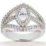 18K Gold Diamond Engagement Ring 1.73ct