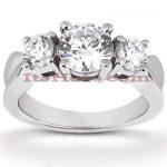 Thin 18K Gold Diamond Engagement Ring Mounting 0.30ct