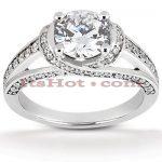 18K Gold Diamond Engagement Ring Mounting 0.41ct