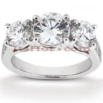 Thin 18K Gold Diamond Engagement Ring Mounting 0.48ct