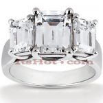 18K Gold Diamond Engagement Ring Mounting 0.66ct