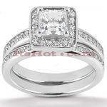 18K Gold Diamond Engagement Ring Mounting Set 0.47ct