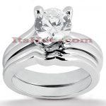 18K Gold Diamond Engagement Ring Set 0.75ct