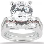 18K Gold Diamond Engagement Ring Set 1.03ct