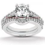 18K Gold Diamond Engagement Ring Set 1.29ct