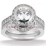 18K Gold Diamond Engagement Ring Set 1.37ct