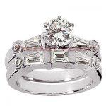 18K Gold Diamond Engagement Ring Set 1.99ct