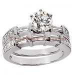 18K Gold Diamond Engagement Ring Set 2.25ct