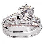 18K Gold Diamond Engagement Ring Set 2.37ct