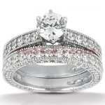 18K Gold Diamond Engagement Ring Set 2.63ct