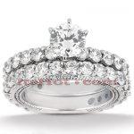 18K Gold Diamond Engagement Ring Set 3ct