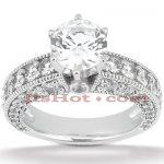 18K Gold Diamond Engagement Ring Setting 1.50ct