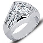 18K Gold Ladies Diamond Ring 2.35ct