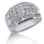 18K Gold Ladies Diamond Ring 2.73ct