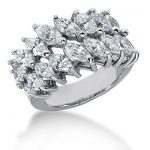 18K Gold Ladies Diamond Ring 3.66ct