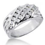18K Gold Men's Diamond Wedding Band 0.72ct