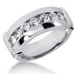 18K Gold Men's Diamond Wedding Ring 1.05ct