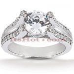 18K Gold Round Diamond Engagement Ring 1.22ct