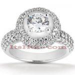18K Gold Round Diamond Engagement Ring 1.81ct