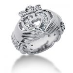 18K Gold Round Diamond Ladies Ring 0.45ct