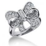 18K Gold Round Diamond Ladies Ring 0.58ct