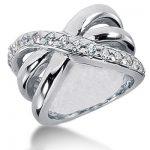 18K Gold Round Diamond Ladies Ring 0.60ct