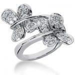 18K Gold Round Diamond Ladies Ring 0.63ct