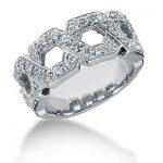 18K Gold Round Diamond Ladies Ring 0.64ct