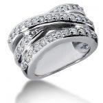 18K Gold Round Diamond Ladies Ring 0.70ct
