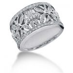 18K Gold Round Diamond Ladies Ring 0.80ct