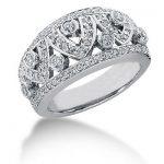 18K Gold Round Diamond Ladies Ring 0.89ct