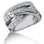 18K Gold Round Diamond Ladies Ring 0.90ct