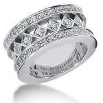 18K Gold Round Diamond Ladies Ring 1.12ct