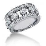 18K Gold Round Diamond Ladies Ring 1.28ct