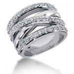 18K Gold Round Diamond Ladies Ring 1.29ct