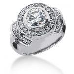 18K Gold Round Diamond Ladies Ring 1.34ct